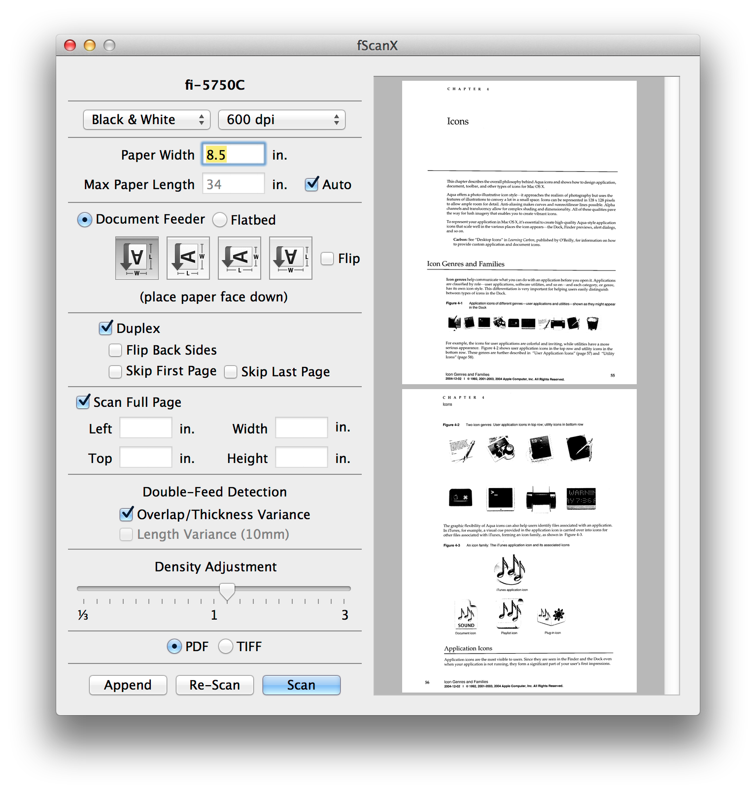 document scanning software for mac os x